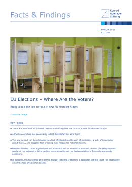 EU Elections - Where Are the Voters? - Konrad-Adenauer