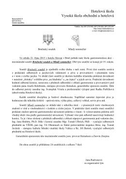 soutěži - Hotelová škola Brno