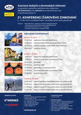 21. KONFERENCI ŽÁROVÉHO ZINKOVÁNÍ