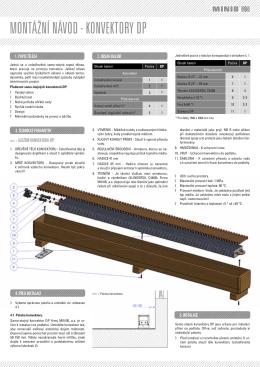 Montážní konvektor samostojný DP MINIB