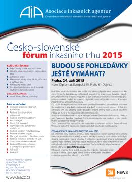 Česko – slovenské fórum inkasního trhu 2015