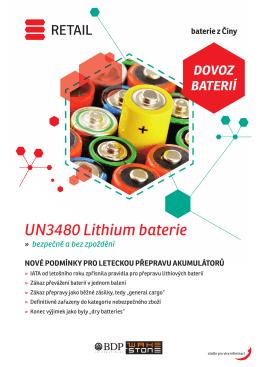 UN3480 Lithium baterie