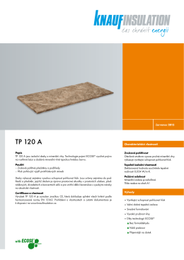 TP 120 A - Knauf Insulation
