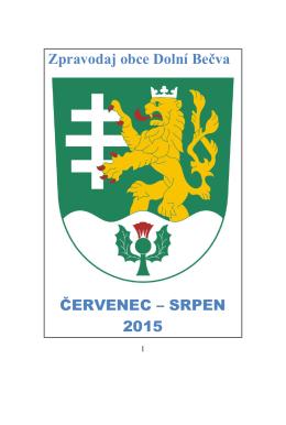 Zpravodaj 07,08 / 2015 - Dolní Bečva