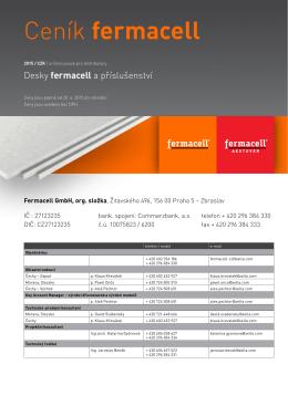 Fermacell - ceník produktů 2015