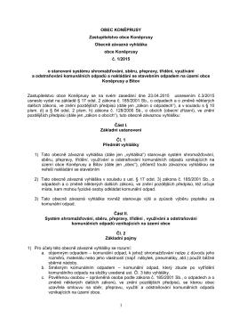 OZV 1 2015 Odpady - Koněprusy