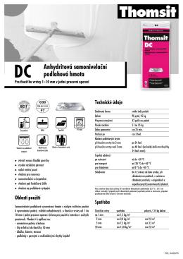 DC Anhydritová samonivelační podlahová hmota