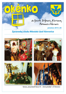 """Výstava """"Jak probudit Vánoce IV. – Zimní pohádka"""" v ZŠ Vávrovice d"""