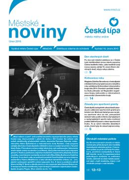 2/2015 Únor - Městské noviny Česká Lípa