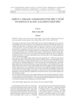 Kniha ACTA 2007_1.indb - Acta Universitatis Agriculturae et