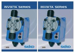 Dávkovací čerpadla Seko Invikta - Produktový průvodce EN-CZ