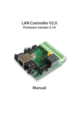 LAN Controller V2.0 Manual