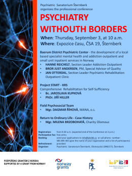 PSYCHIATRY WITHOUTH BORDERS