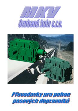 převodovky pro pohon pasových dopravníků