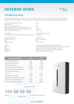 DATASHEET – pdf ke stažení