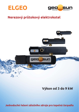 Nerezový průtokový elektrokotel Výkon od 3 do 9 kW