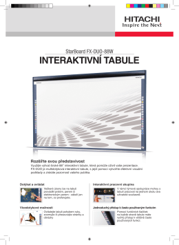INTERAKTIVNÍ TABULE - Hitachi Solutions Europe