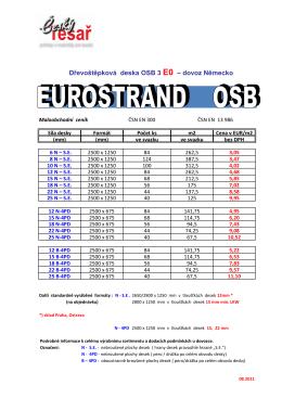 Cenik-EUR Eurostrand OSB3