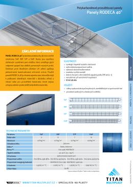panel RODECA 40 - TITAN