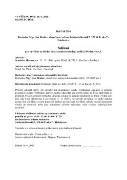 Sdělení - Rozhodčí soud při IAL SE