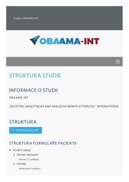 eCRF - Registr OBAAMA-INT