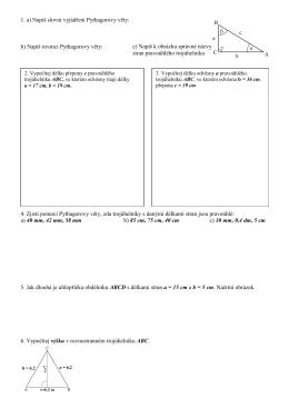 Opakování matematiky na písemnou zkoušku 22.10.2015