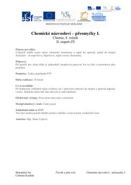 (Chemické názvosloví