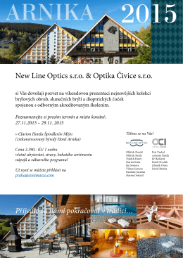 New Line Optics s.r.o. & Optika Čivice s.r.o.