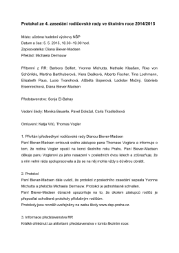 4. Zasedání 5. 5. 2015