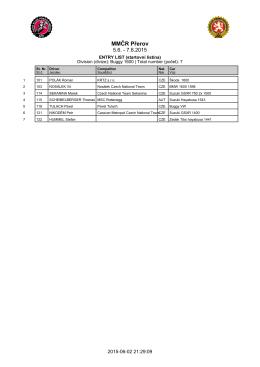 Seznam jezdců k 2.6.2016