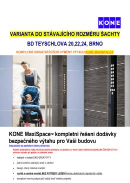 Výtahy KONE VAR.č.1 Teyschlova 20,22,24, Brno