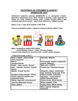 pozvánka na podzimní slavnost akimacuri 2015