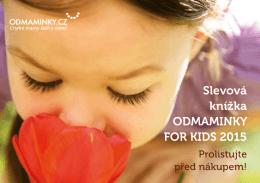 Slevová knížka ODMAMINKY FOR KIDS 2015