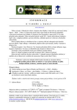 04-Informace o táboře 2015
