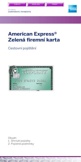 American Express® Zelená remní karta