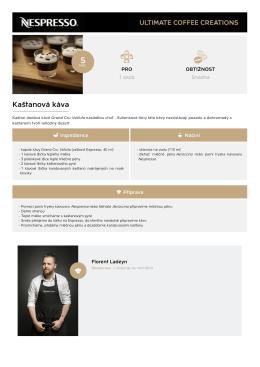 Kaštanová káva - Dokonalé kávové kreace