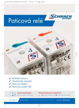 S-relé Schrack Technic