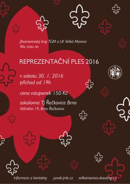 ples 2016 plakát - Junák, Jihomoravský kraj TGM
