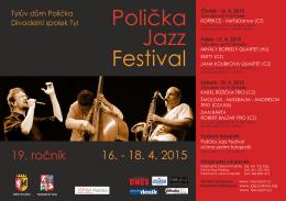 Polička Jazz Festival 2015 plakát