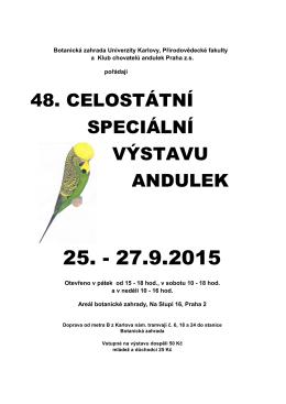 plakát 48. CVA_a - Botanická zahrada