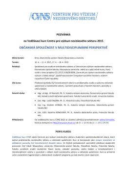 ESF hlavičkový papír CZ - Centrum pro výzkum neziskového sektoru