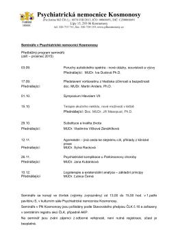 hlavičkový papír - Psychiatrická léčebna Kosmonosy