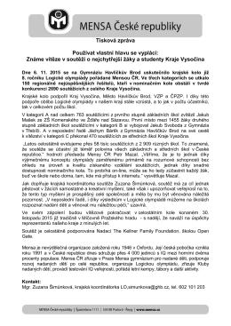 Hlavičkový papír Mensy ČR (černobílá verze)