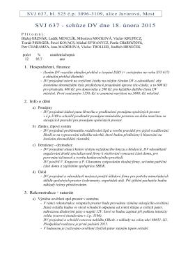 zápis ze schůze DV konané dne 18. 2. 2015