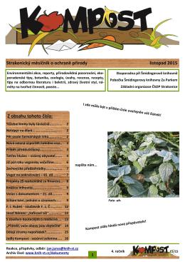 Strakonický měsíčník o ochraně přírody listopad 2015 Z obsahu