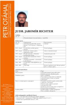 JUDR. JAROMÍR RICHTER