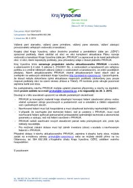 Oznámení o zveřejnění návrhu PRVKUK