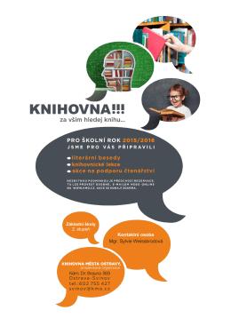 Nabídka knihovnických lekcí a besed pro školní rok 2015/2016