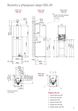 Rozměry a připojovací údaje CGS-2R