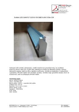 Svítidlo LED GANYS TL2016-150 SMD 9,4W